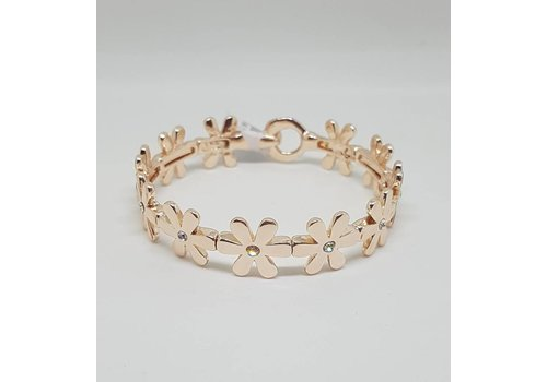 Rose Gold Gem Daisy Chain Bangle