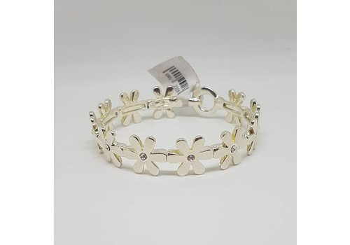 Silver Gem Daisy Chain Bangle