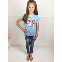 AVA Blue Heart T-Shirt