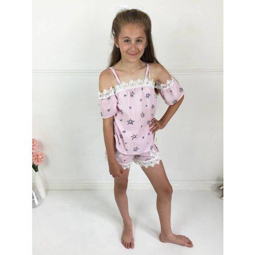 AMELIA Pink Stripe Star Set