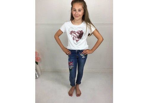 AVA White Heart T-Shirt