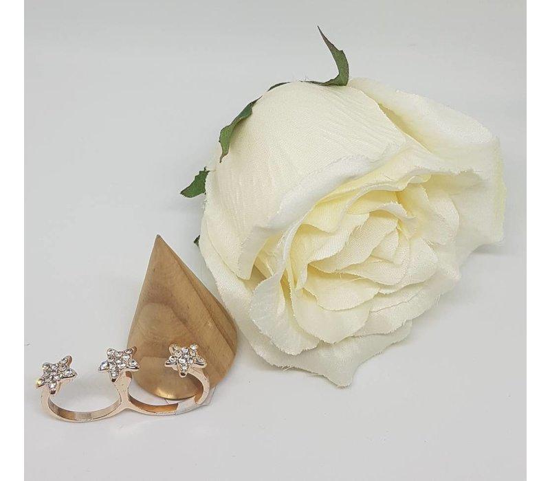 Rose Gold Double Finger Star Ring