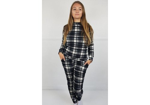Black & White Chequered Lounge Suit