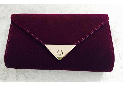 Velvet Envelope Clutch Bag