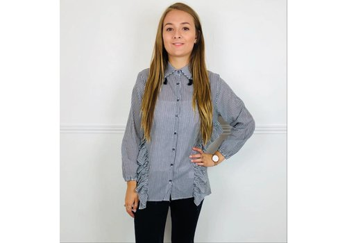 NATALIE Striped Tassel Shirt (2 colours)