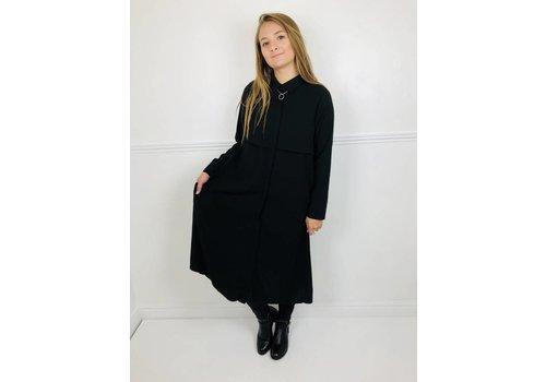 GABRIELLA Black Maxi Blouse