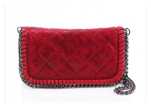 Red Quilted Chain Bag