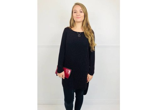 AMBER Red Sparkle Tunic Dress