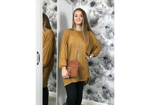 KIRSTY Batwing Pearl Tunic (4 colours)