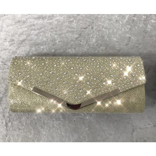 Glitter & Gem Encrusted Envelope Clutch Bag
