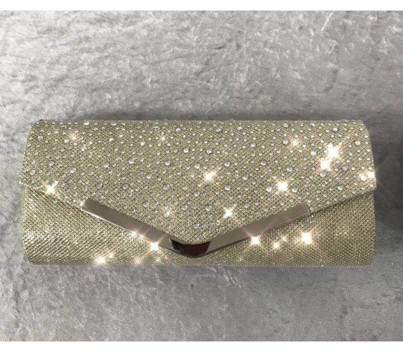 Glitter & Gem Encrusted Envelope Clutch Bag