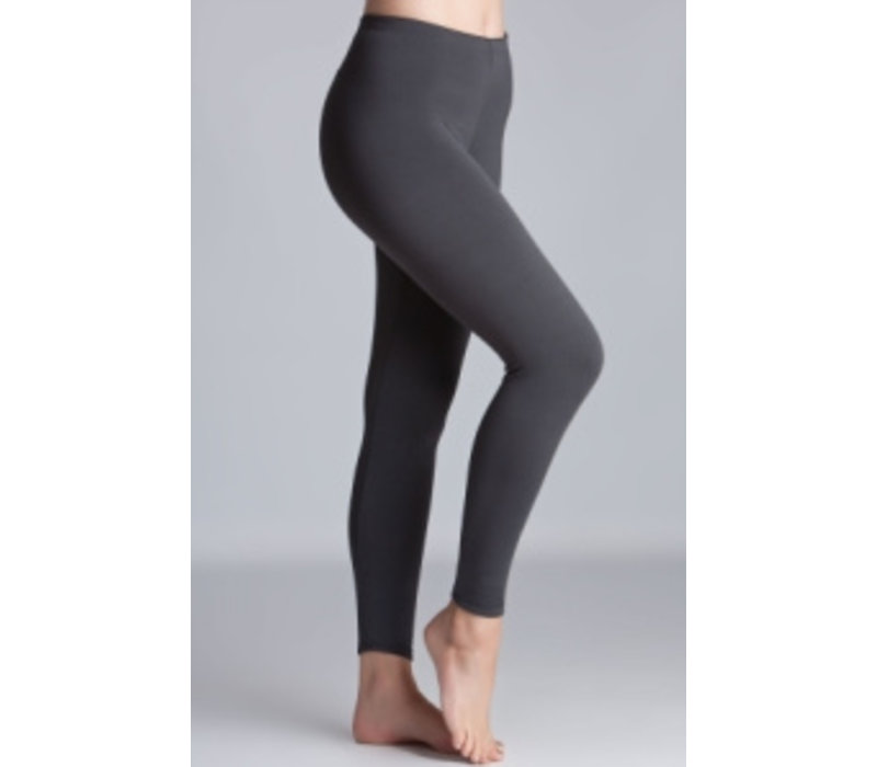 RILEY Charcoal Grey Fleece Lined Leggings