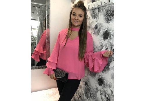 Dark Pink DION Blouse