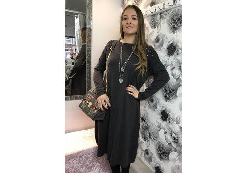 LEONA Pearl Soft Knit Jumper Dress