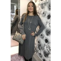 LEONA Pearl Soft Knit Jumper Dress