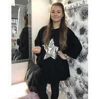 RONNIE Sequin Star Oversized Top (Several colours)