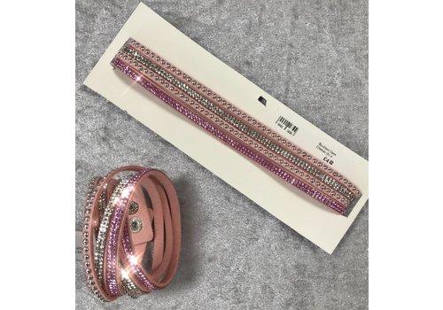 Suede Studded Gem Choker/Bracelet (More Colours)