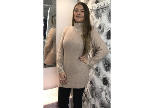 IMOGEN Pearl Blush Pink Jumper Dress