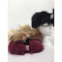Faux Fur Diamante Headband