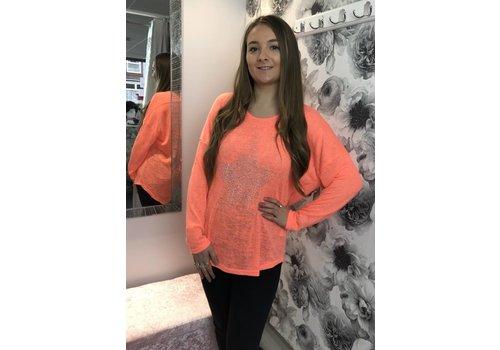 Orange CARA  Long  TShirt