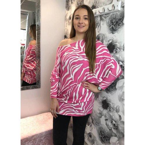 NICKI Zebra Print Slouch Dress ( More Colours)