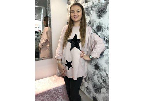 TAMMIE Sequin Velvet Star Sweatshirt (More Colours)