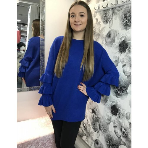 JASMINE Frill Sleeve Jumper (Several Colours)