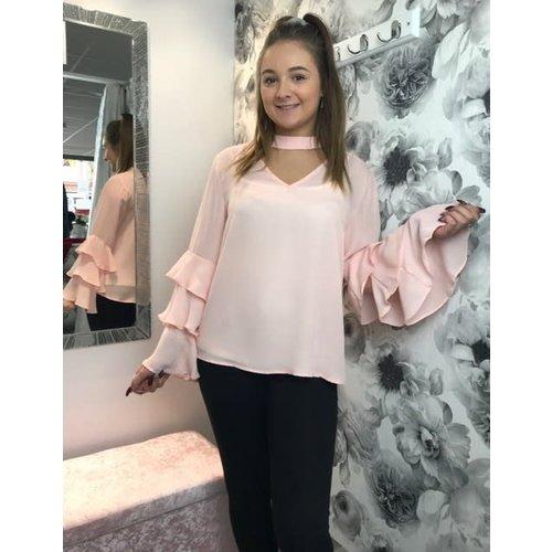 Blush Pink DION Blouse