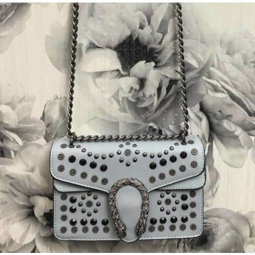 Dragon Head Studded Chain Handbag (More Colours)