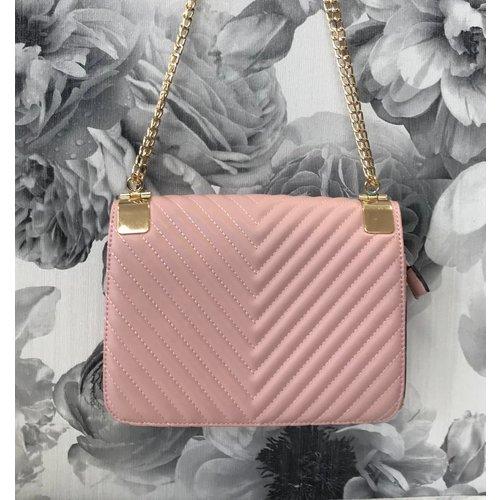 Chevron Design Chain Strap Handbag ( More Colours)