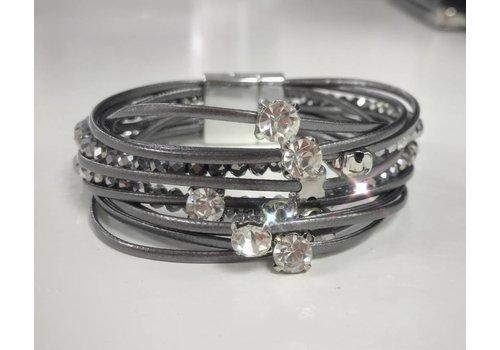 Multi Strand Diamante Bead & Gem Bracelet