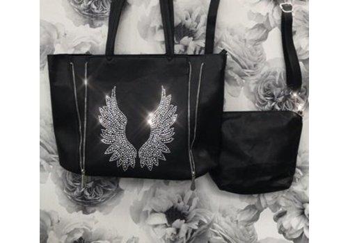Gem Angel Wing Black Bag in a Bag