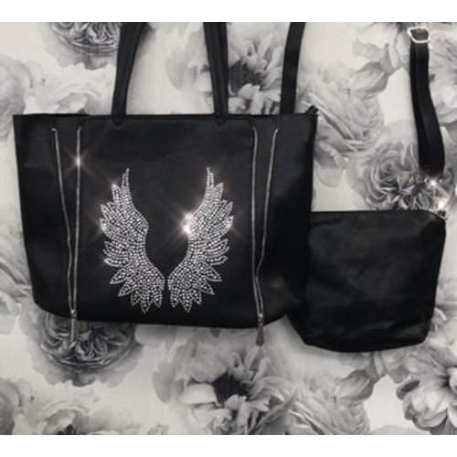 Gem Angel Wing Black Bag in a Bag