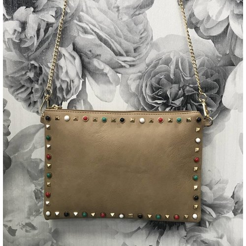 Designer Inspired Studded Clutch Bag