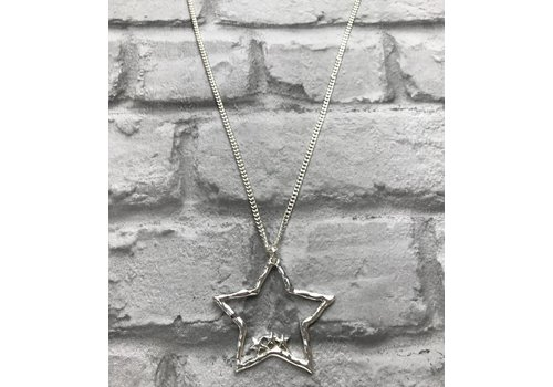 Silver Multi Star Pendant Necklace