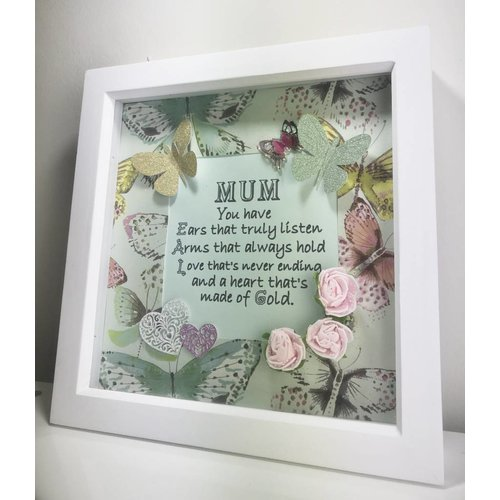 """""""Ears That Truly Listen"""" Mum Quote Box Frame"""