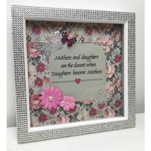 """Mothers & Daughters"" Mum Quote Box Frame"