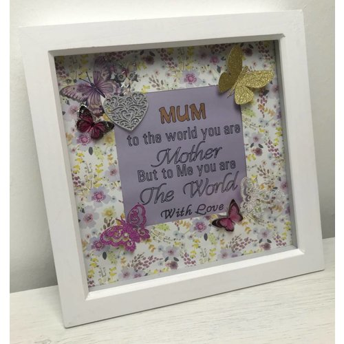 """To The World"" Mum Quote Box Frame"