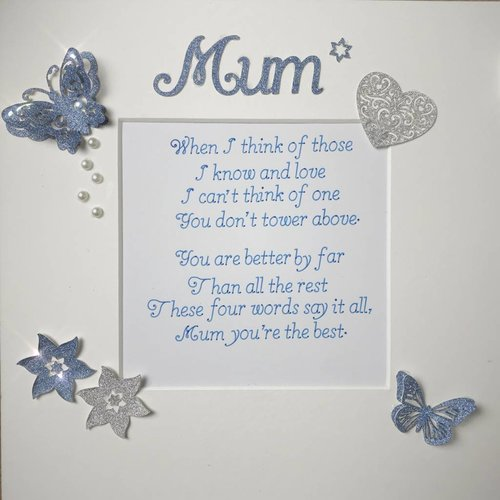 """When I Think"" Mum Quote Box Frame"