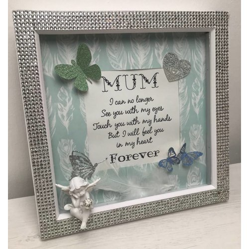 """I Can No Longer"" Mum In Heaven Quote Box Frame"
