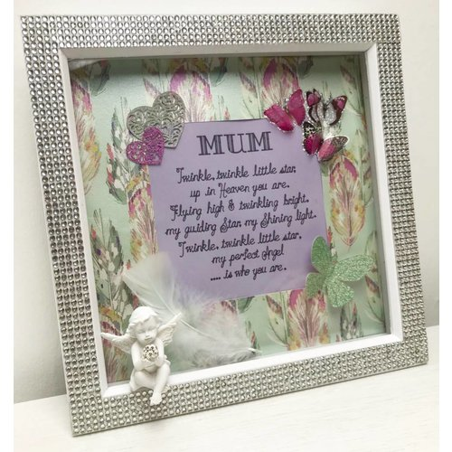 """Twinkle, Twinkle"" Mum In Heaven Quote Box Frame"