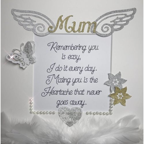 """Remembering You"" Mum In Heaven Quote Box Frame"
