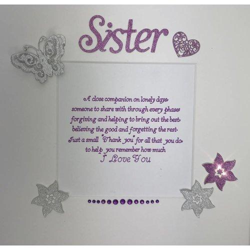 """""""A Close Companion"""" Sister Quote Box Frame"""