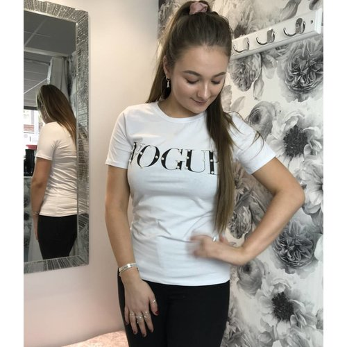 Pearl VOGUE Slogan Tee (More Colours)