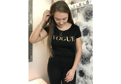 Black & Gold VOGUE Top