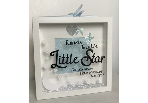 """Baby """"Twinkle, twinkle """" box frame (More Colours)"""