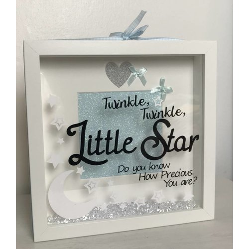 "Baby ""Twinkle, twinkle "" box frame (More Colours)"