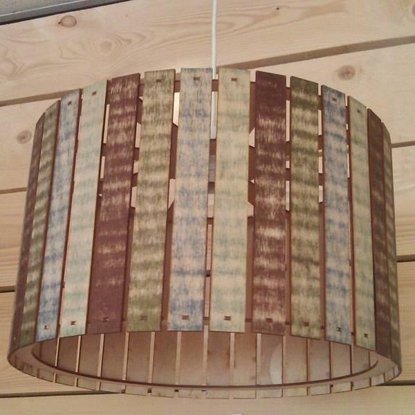 Houten hanglamp sloophout rond 40cm