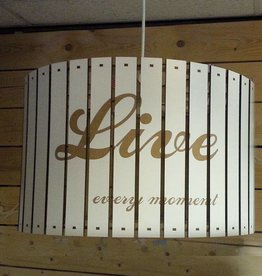 Houten hanglamp live-laugh-love