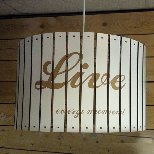 Houten hanglamp naturel rond 40cm  live-laugh-love